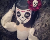 RESERVED Pinup/ Dia de los Muertos/ Day of the Dead Art Doll
