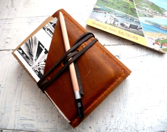 leather travel journal with pockets- the ultimate travel journal