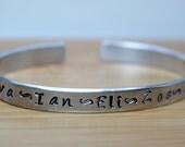 adult aluminum personalized handstamped bracelet - personalized handstamped bracelet - personalized bracelet - handstamped bracelet