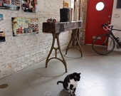 Reclaimed Industrial Console / Table / Bar by moss Design