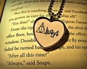 Always Lily Potter, Severus Snape, Albus Dumbledore, Harry Potter, Heart Necklace Pendant