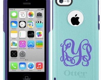 Teal Purple Otter Box Commuter Case with Vinyl Monogram IPHONE 6 PLUS /6S PLUS(Will ship by 8/31)