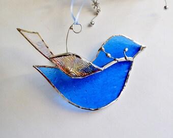 The Happy Bluebird Ornament Home Decor Suncatcher