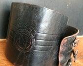 SALE    Black Leather Kidney Belt, Biker Belt, Ren Fair Warrior Belt