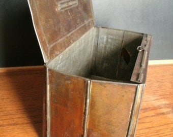Antique Marie Meutzer Colapsable Storage Tin