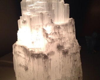 SALE!!! details below. Medium Selenite Lamp