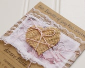 Rustic Birth Announcements: Unique Handmade Rustic Kraft. Lace. Burlap. Baby Gil Birth Announcements. Shabby Chic. Kraft Cardstock.