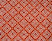 2 yard cut of Sandi Henderson Meadow Sweet Paper Snowflake Fabric in Pumpkin by Michael Miller