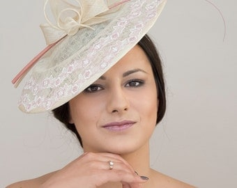 Fascinator-sinamay and lace