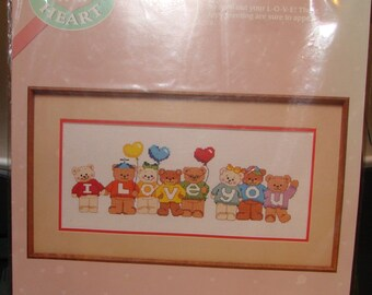 I Love Bears Cross Stitch