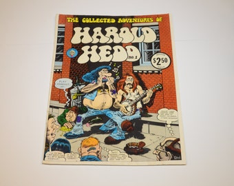 1973 The Collected Adventures of Harold Hedd Issue No.1 - 2.50 cover price, Last Gasp Eco Funnies, Artist Rand H. Holmes - 11x14 KING Size