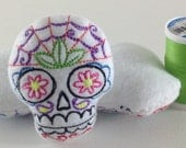 Skull Pincushion - Machine Embroidered