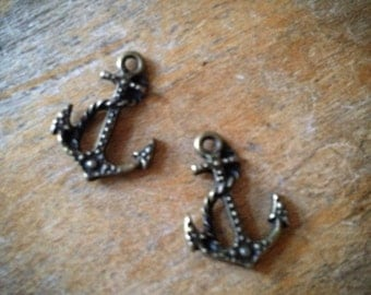 Anchor Bronze Vintage Style Anchors Nautical Pendant Charm Jewelry Supplies (BA141)