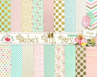 Bebe's Big Day Patterned Paper Set