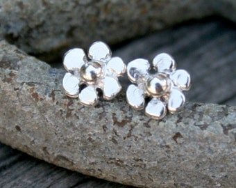 Sterling Silver Flower Post Earrings
