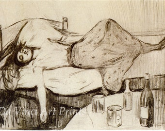Fine Art Reproduction. The Day After, 1895 by Edvard Munch. Fine Art Print.