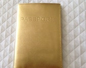 GOLD LEATHER Passport Cover