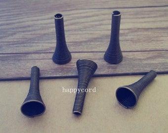30pcs Antique bronze horn shape spring  10mmx26mm