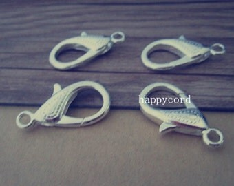 10pcs silver color lobster Clasps 15mmx30mm
