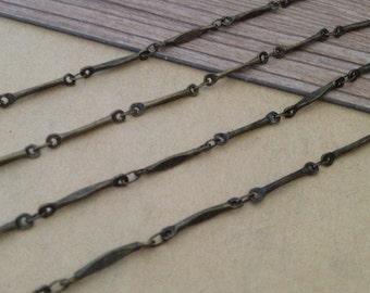 6.6ft (2m) Antique bronze copper necklace pendant chains 2mmx16mm