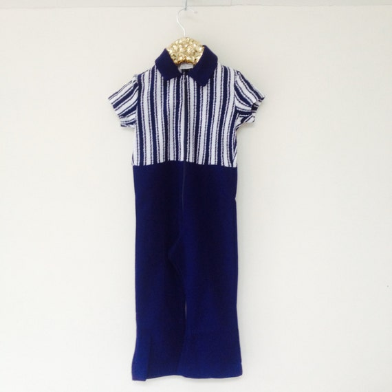 Vintage Unworn Flared Romper With Zip and Collar Great Quality 3-4 Years Unisex