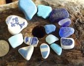 Blue beachcombing selection