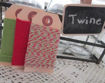 Bakers Twine ~ Christmas ~ Lime Green Red Twine
