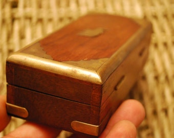 BRASS and WOODEN BOX - Elephant