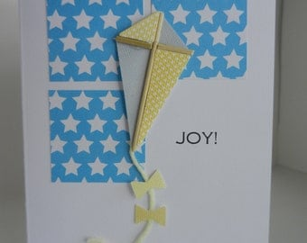 Joy Card - kite card - Blank Greeting Card - All Occasion greeting card - handmade greeting card - encouragement card - thinking of you card