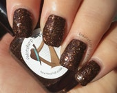 Sandwich (full size 15ml)- Brown glitter shimmer indie polish by Fedoraharp Lacquer