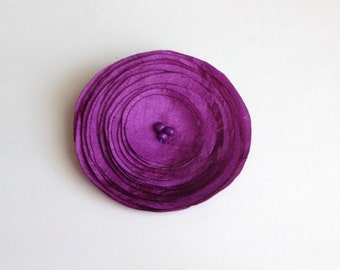 Plum Purple Silk Poppy  Embellishment