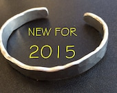 Aluminum Bracelet - hand forged  - any size - Men or Women