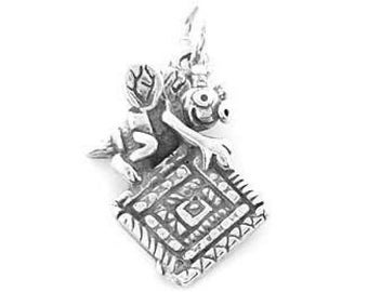 Sterling Silver Quilting Bee Charm (One Sided charm)