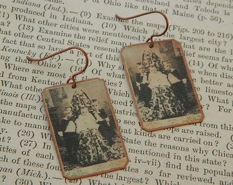 Hidden Mother earrings mixed media jewelry Victorian Halloween