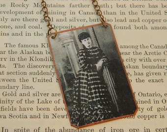 Western necklace Celia Ann Blaylock Wyatt Earp  mixed media jewelry