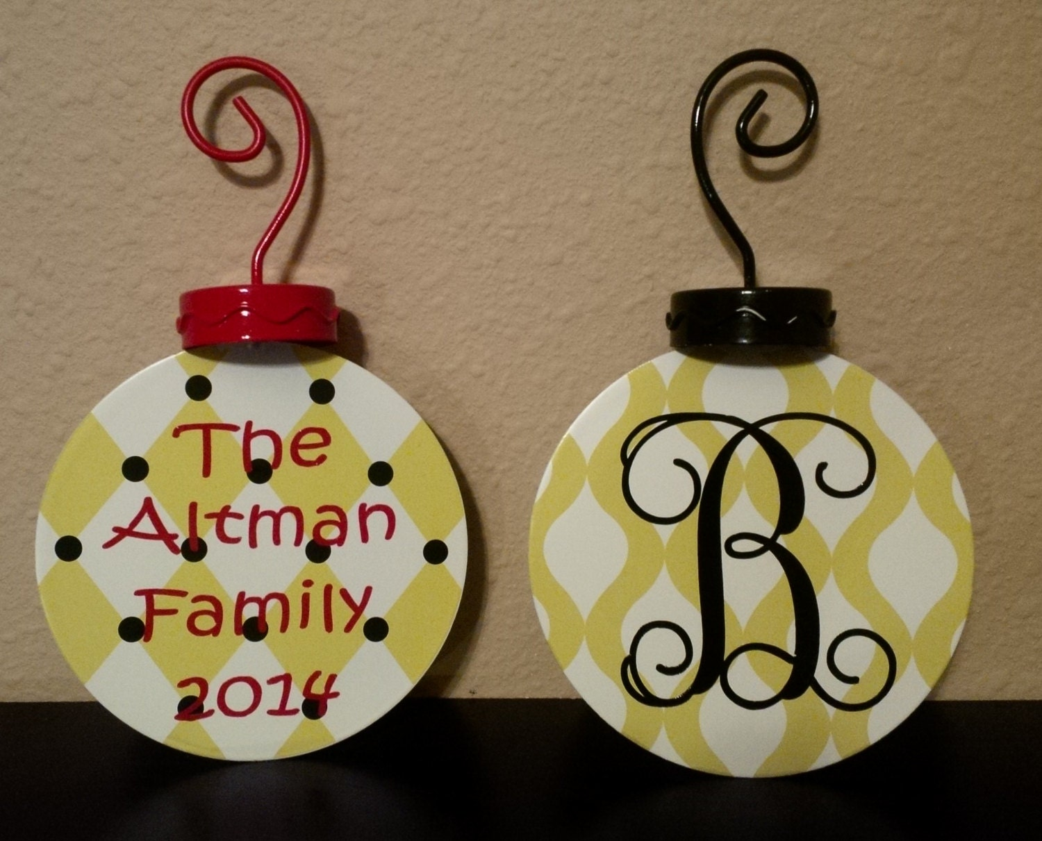 Personalized metal christmas ornament by palmettopersonalize