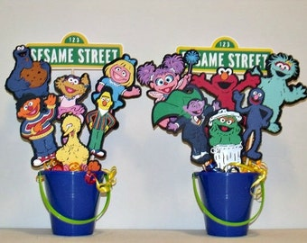SESAME STREET BIRTHDAY party character centerpiece