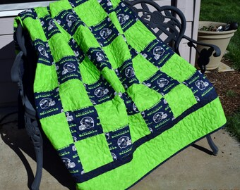 SEATTLE SEAHAWKS QUILT - Made to order