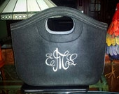 A Girls Favorite Wool Felt Bag-Includes Your Monogram Free Shipping