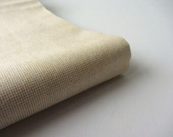 Tan tiny tiny squares cotton silk India fabric nr 241 fat quarter
