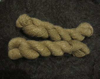Llama Yarn 2 Skeins Taupe 100% Llama - 2-ply worsted - from Silver Fortune and Primary Colors