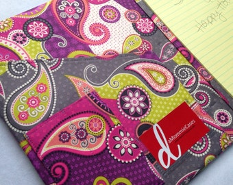 Pocket Fabric Portfolio 8.5 x 11 Note Pad iPad Cover made to order