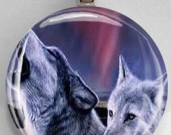 Interchangelable Magnetic Wolves #3 Pendant Necklace Handmade