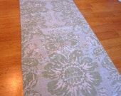 Table runner, shabby chic, green runner, floral runner, farmhouse decor, shabby chic table runner, home accessories, home decor