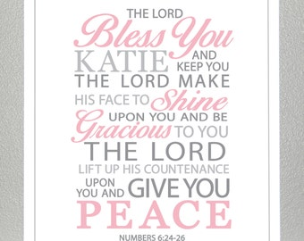baby dedication gift - Numbers 6:24-26  - Print