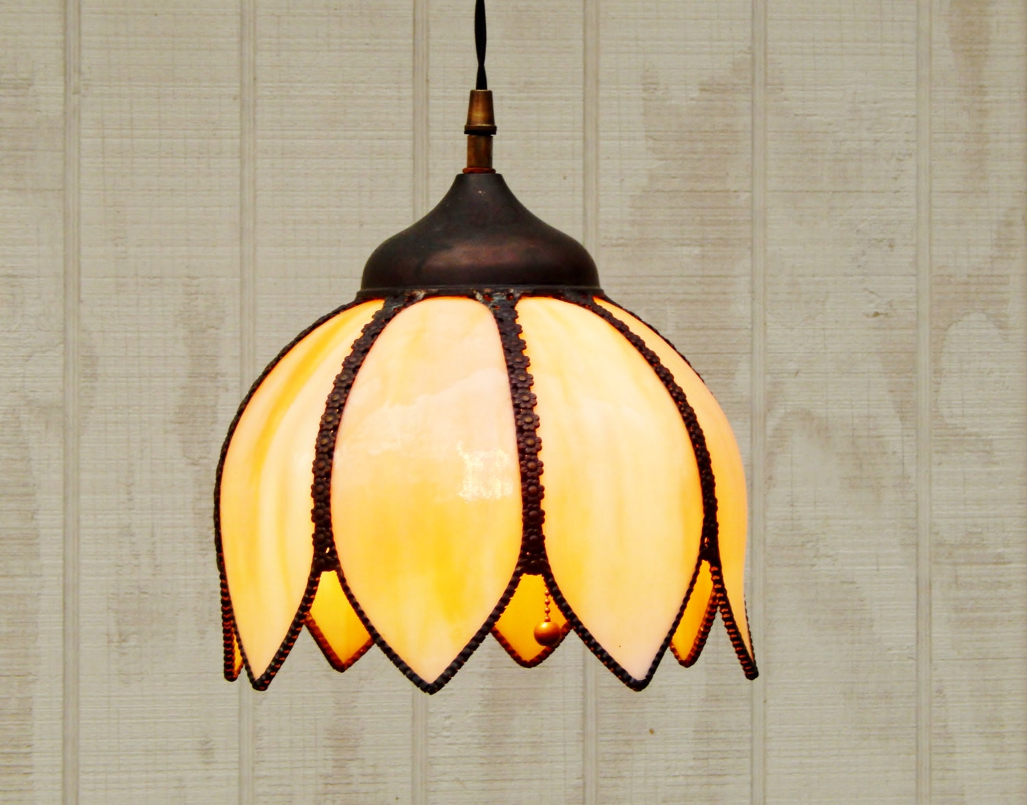 Vintage Style Industrial Metal Shade Pendant With Holes
