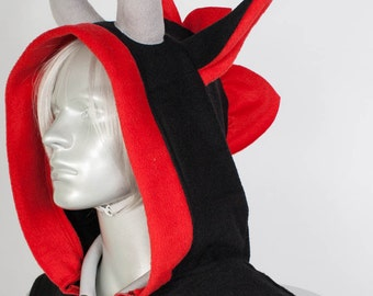 Black Dragon Hoodie, Costume, Cosplay, Adult Size, Hand-made