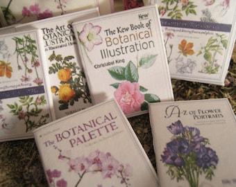 1:12 DOLLHOUSE BOOKS. Floral Books