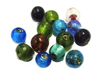 New Silver Lined Glass Beads _10mm_ 14pcs per blister package