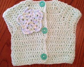 3-6 Months Green Baby Boy Crochet Sweater